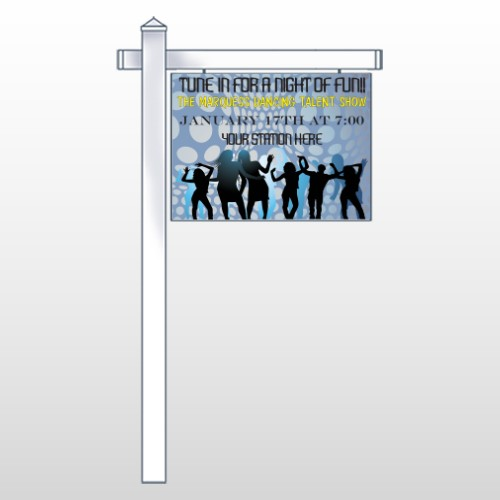 """Talent Show 440 18""""H x 24""""W Swing Arm Sign"""