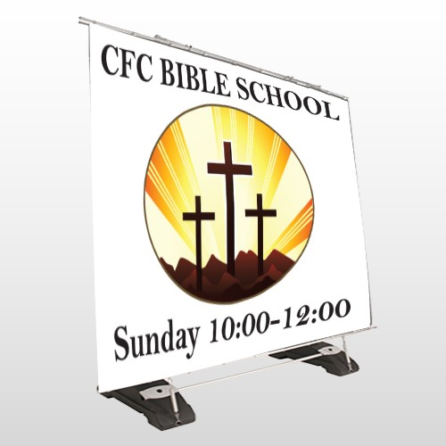 3 Crosses 149 Exterior Pocket Banner Stand