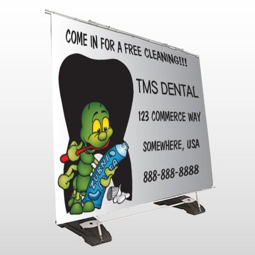 Brushing Germ 502 Extirior Pocket Banner Stand