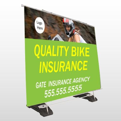 Bike Insurance 110 Exterior Pocket Banner Stand