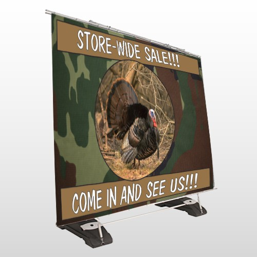 Hunt Turkey 409 Exterior Pocket Banner Stand