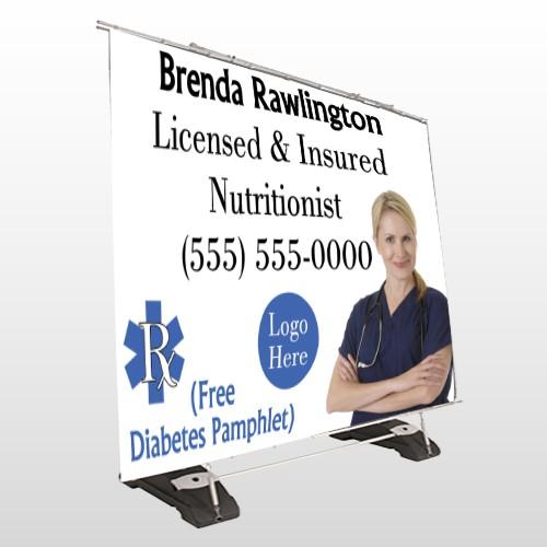 Nutrititionist 46 Exterior Pocket Banner Stand