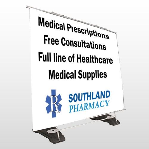 Pharmacy 335 Exterior Pocket Banner Stand