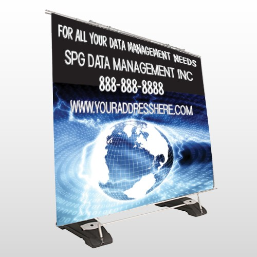 World Wide Web 437 Exterior Pocket Banner Stand