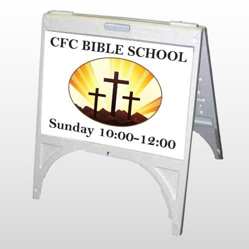 3 Crosses 149 A Frame Sign
