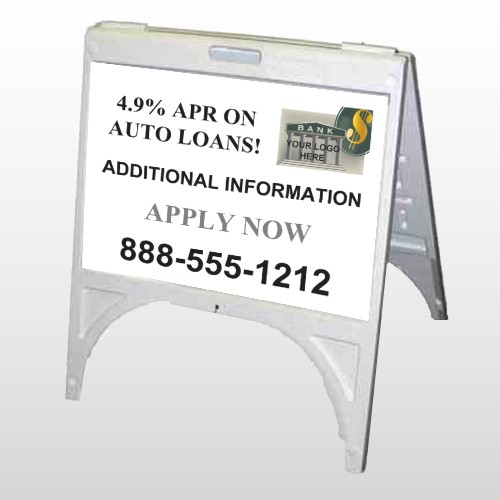 Auto Loan 155 A Frame Sign