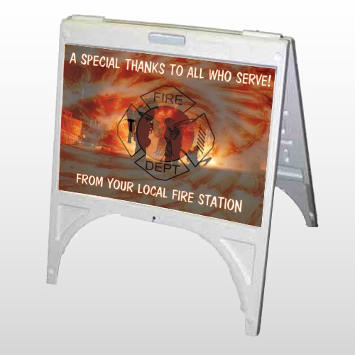 Fire 432 A Frame Sign