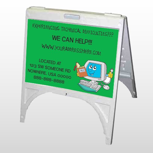 Cartoon Computer 431 A Frame Sign