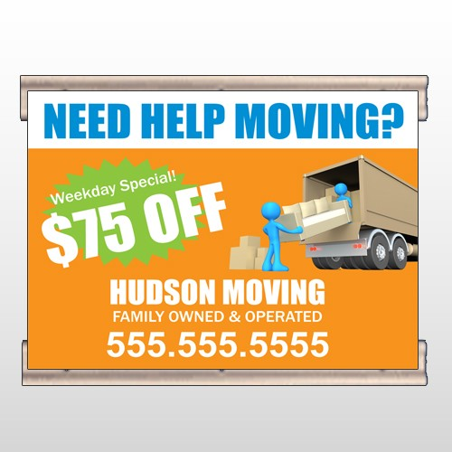 Blue Moving 294 Track Banner