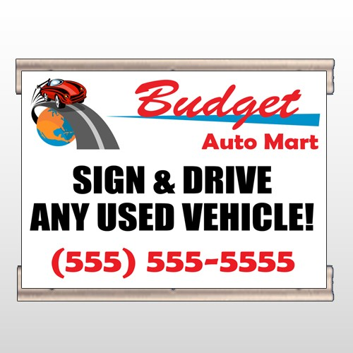 Budget Auto Mart 116 Track Banner