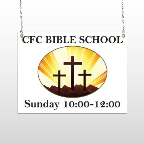 3 Crosses 149 Window Sign
