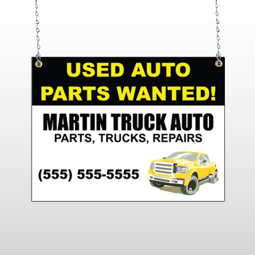 Black & Yellow Truck 326 Window Sign