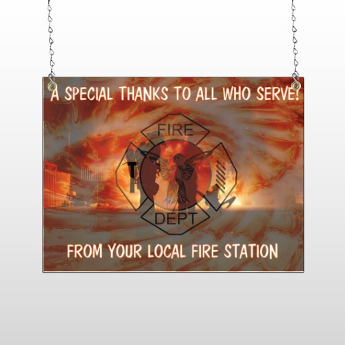 Fire 432 Window Sign