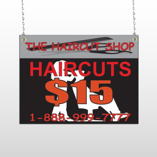 Haircut Scissors 644 Window Sign