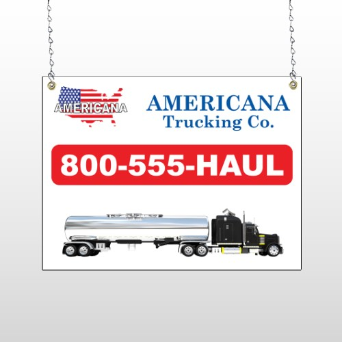 Tanker Truck 315 Window Sign