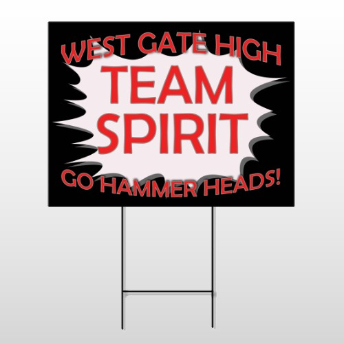 Team 55 Wire Frame Sign