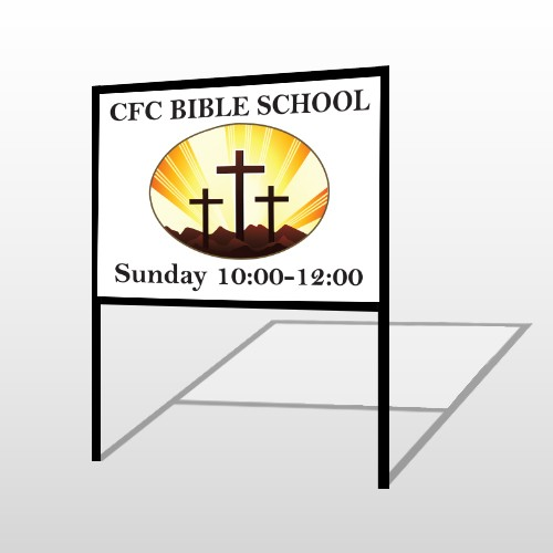 3 Crosses 149 H-Frame Sign