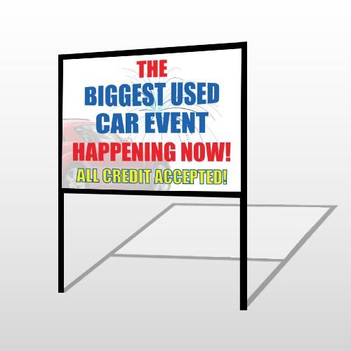 Fireworks Car 316 H-Frame Sign