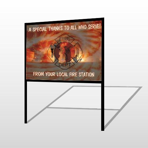 Fire 432 H-Frame Sign