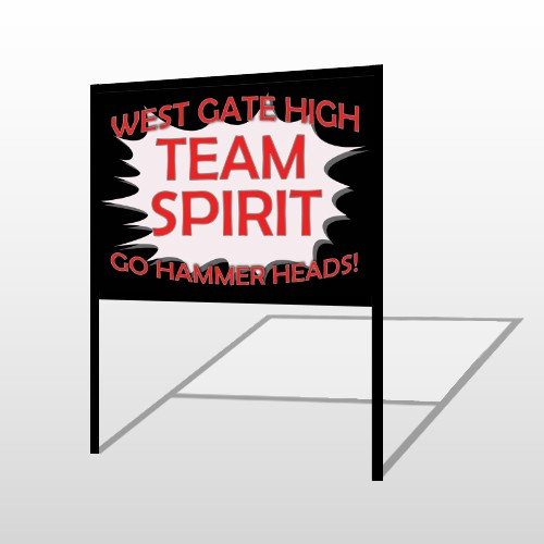 Team 55 H Frame Sign