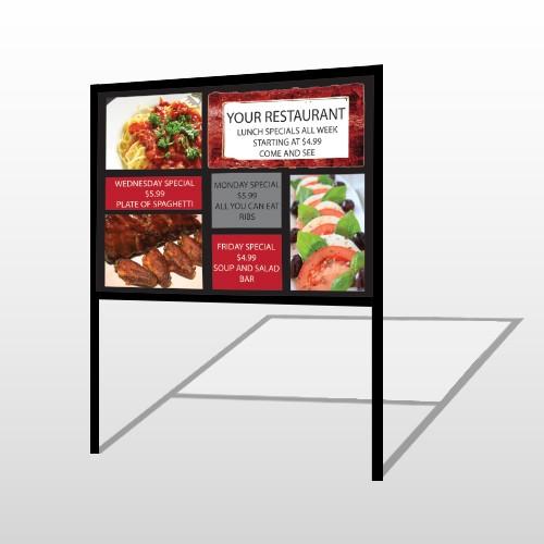 Restaurant Specials 370 H Frame Sign