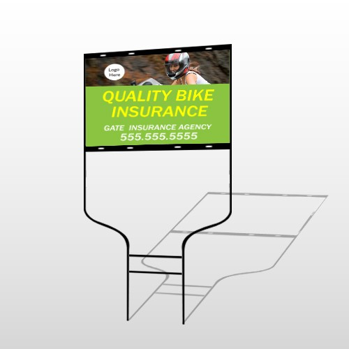 Bike Insurance 110 Round Rod Sign