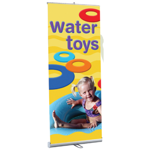 """Kit- RBS48 Retractable Banner Stand & Anti-Curl Banner 48""""W x 84""""H"""