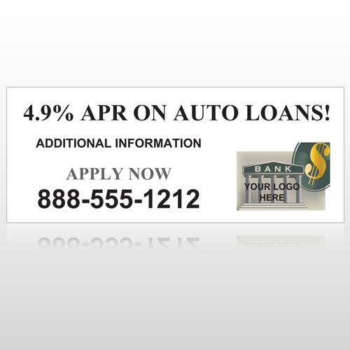 Auto Loan 173 Site Sign