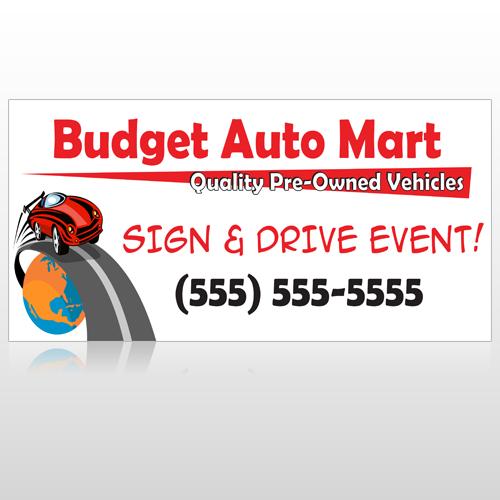 Budget Auto Mart 116 Site Sign