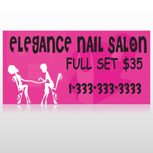 Elegant Nails 643 Custom Sign