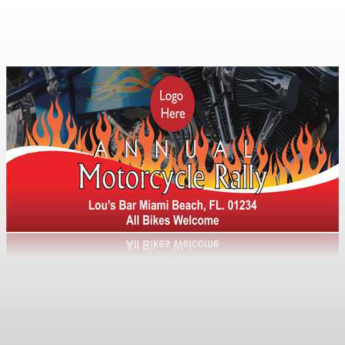 Motorcycle Flame 107 Site Sign