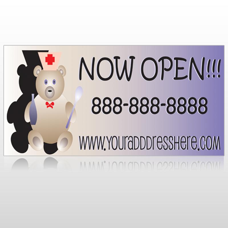 Nurse Bear 504 Custom Sign