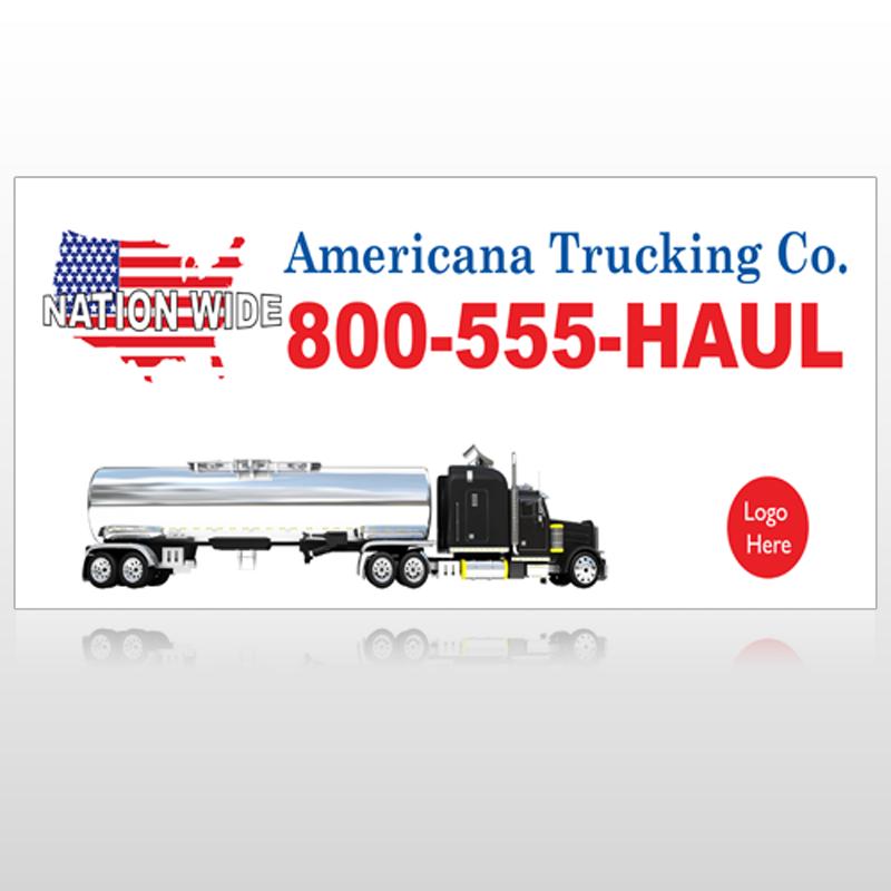 Tanker Truck 315 Custom Sign