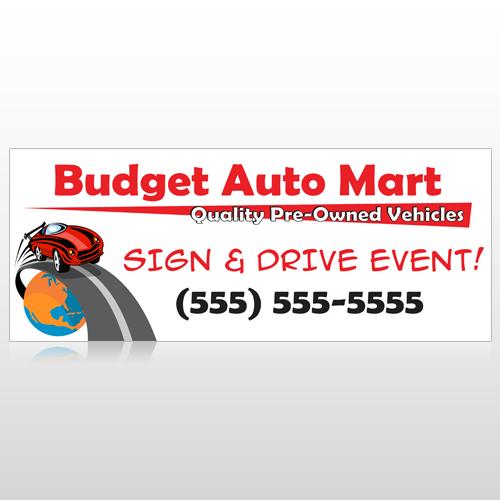 Budget Auto Mart 116 Custom Banner