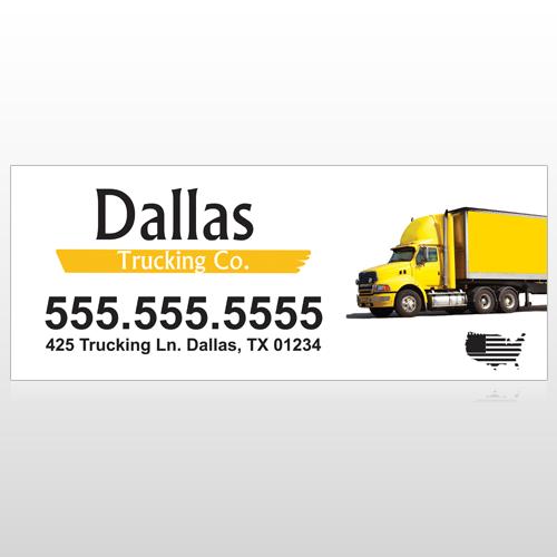 Yellow Truck 296 Custom Banner