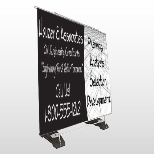 Black Planning 218 Exterior Pocket Banner Stand