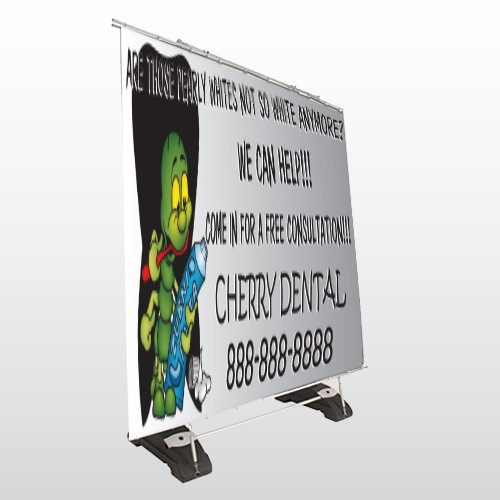 Brushing Germs 502 Extirior Pocket Banner Stand