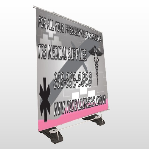 Caduceus Med 503 Exterior Pocket Banner Stand