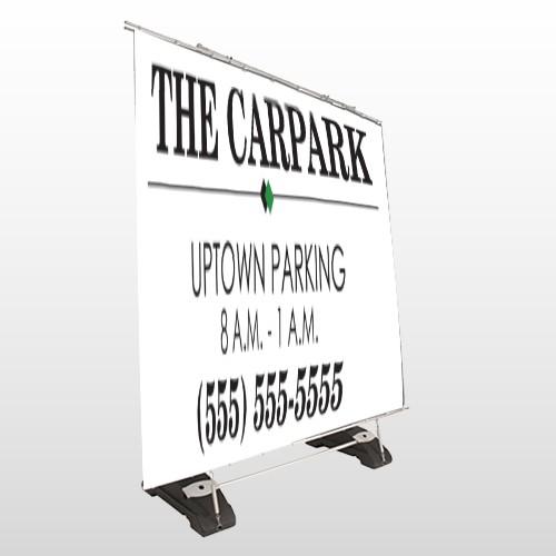 Car Park 122 Exterior Pocket Banner Stand