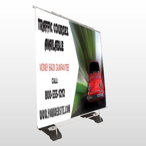 Car Traffic 153 Exterior Pocket Banner Stand