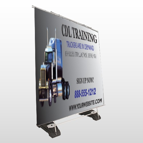 CDL Training 155 Exterior Pocket Banner Stand