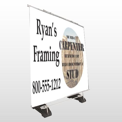 Framing 237 Exterior Pocket Banner Stand