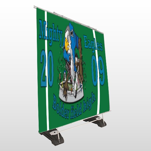 Green 50 Exterior Pocket Banner Stand