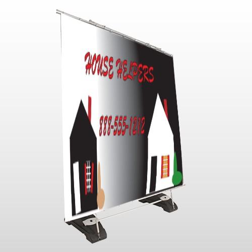 Househelper 245 Exterior Pocket Banner Stand
