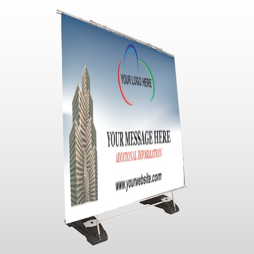 Industry 168 Exterior Pocket Banner Stand