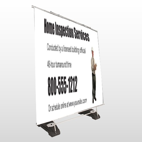 Home Inspection 360 Exterior Pocket Banner Stand