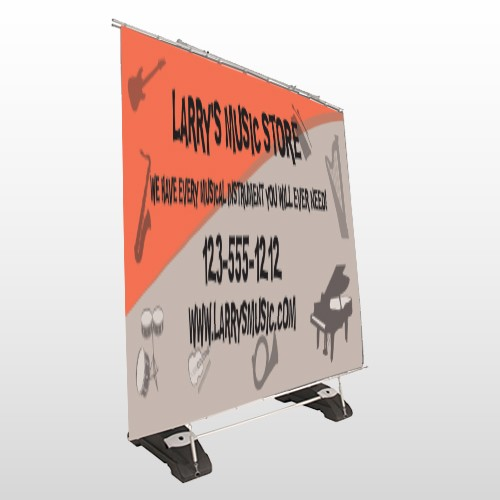 Larry Music Store 372 Exterior Pocket Banner Stand