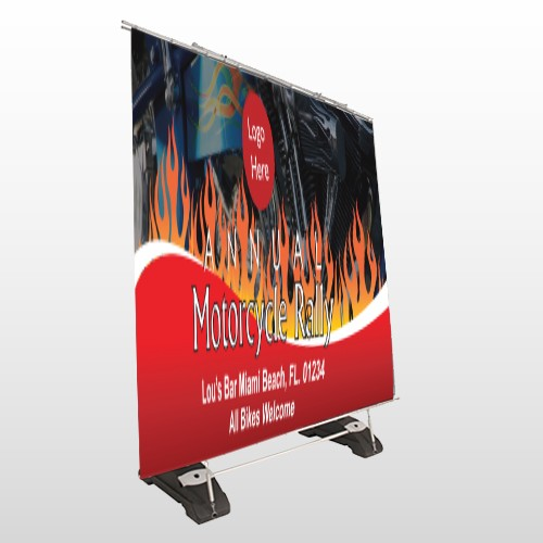 Motorcycle Flame 107 Exterior Pocket Banner