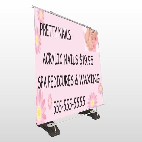 Nail Salon 291 Exterior Pocket Banner Stand