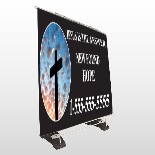 New Found Hope 01 Exterior Pocket Banner Stand